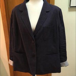 SALE! Talbots Navy Linen Jacket